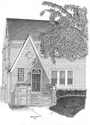 House / Home Rendering Art Print by Marty Rice