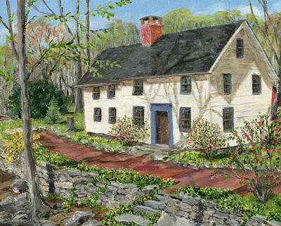 Painting - House In Carversville by Margie Perry