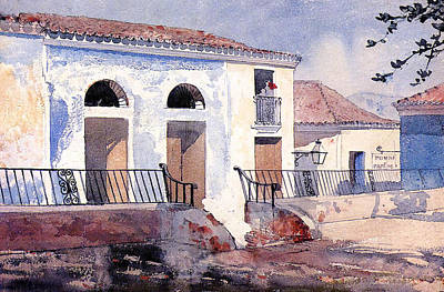 Railing Painting - House In Santiago by Winslow Homer
