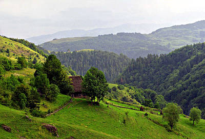 House In The Apuseni Mountains Art Print by Emanuel Tanjala