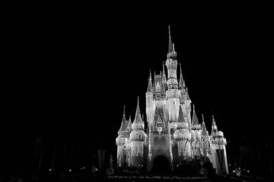 Disney Photograph - House Of Dreams - Black And White by Nicholas Evans