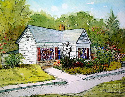 Art Print featuring the painting House Of Flowers by Gretchen Allen