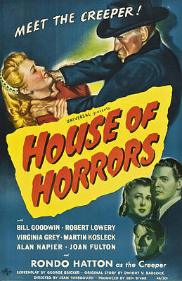House Of Horrors, Top Right Rondo Art Print by Everett