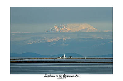 Photograph - Dungeness Spit Lighthouse - Mt. Baker - Washington by Marie Jamieson