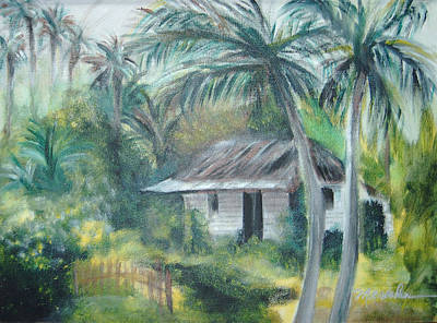 Bamboo House Painting - House Of Palms by Beth Dolan