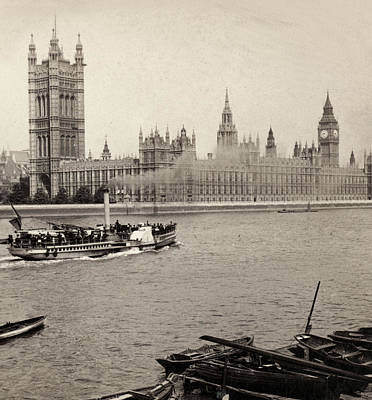 Photograph - House Of Parliament - London England - C 1896 by International  Images