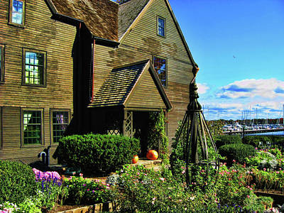 House Of The Seven Gables Art Print by Lourry Legarde
