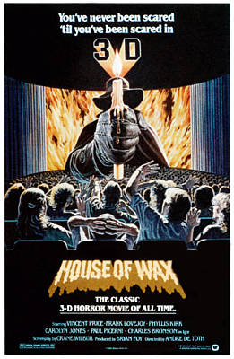 1950s Movies Photograph - House Of Wax, Reissue Poster Art, 1953 by Everett