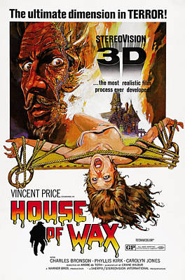 Horror Movies Photograph - House Of Wax, Top Left Vincent Price by Everett