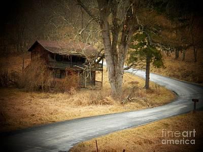 House On A Curve Art Print by Joyce Kimble Smith