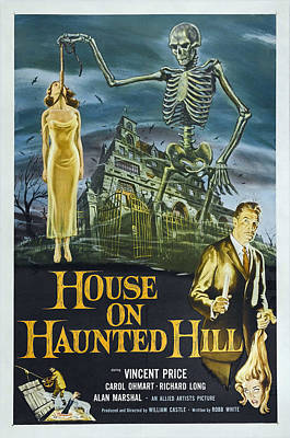 House On Haunted Hill, Alternate Poster Art Print by Everett