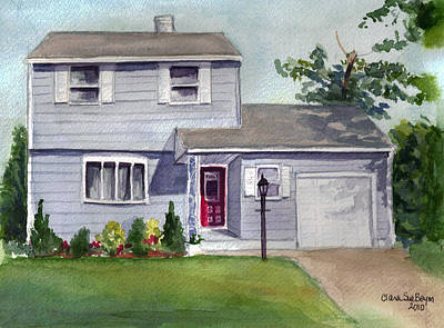 Painting - House On My Street by Clara Sue Beym