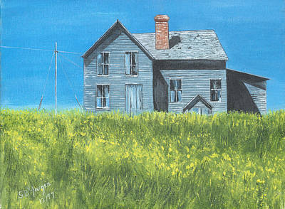 Painting - House On The Hill by Stuart B Yaeger