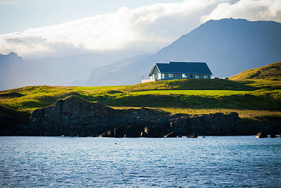 Photograph - House Overlooking The Ocean by Anthony Doudt