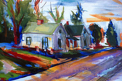 Painting - House Road by John Jr Gholson