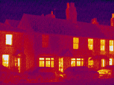 House, Thermogram Art Print by Tony Mcconnell