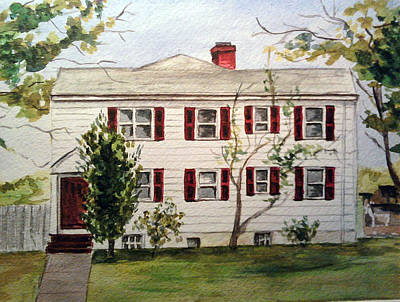 Painting - House With Red Shutters by Clara Sue Beym