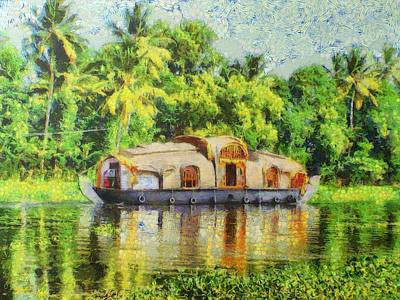 Houseboat Art Print