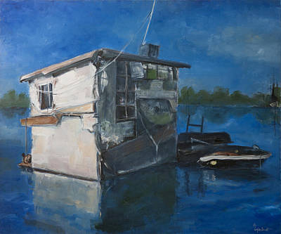 Houseboat Art Print by Sophie Brunet