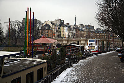 Photograph - Houseboats On The Seine by Van Corey