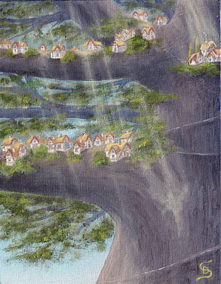 Houses In A Tree From Arboregal Art Print