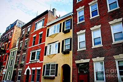 Old Brick Building Photograph - Houses In Boston by Elena Elisseeva