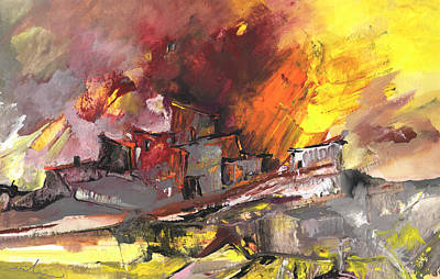 Painting - Houses In Fire by Miki De Goodaboom