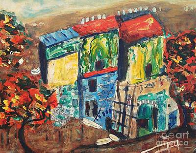 Painting - Houses In Italy by Suzanne  Marie Leclair