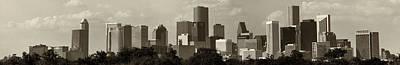 Photograph - Houston Skies Black And White by Joshua House