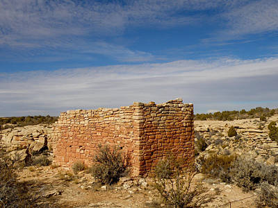 Hovenweep's Twin Towers Art Print by Feva  Fotos