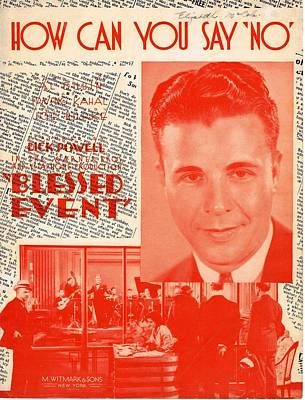 Old Sheet Music Photograph - How Can You Say 'no' by Mel Thompson