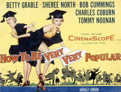 How To Be Very, Very Popular, Betty Art Print by Everett