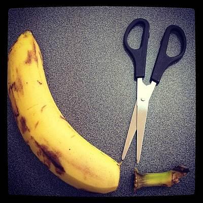 Banana Photograph - How To Clean The Banana? by Jane Bulatnikova