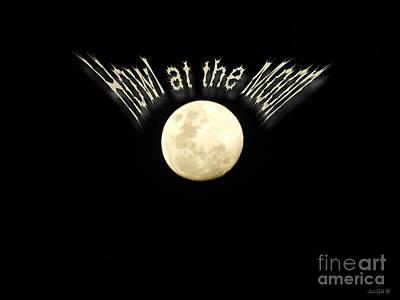 Vintage Movie Stars - Howl at the Moon by Linda Galok