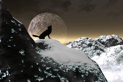 Digital Art - Howling At The Wind by Claude McCoy