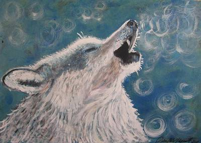 Painting - Howling by Julia Rita Theriault