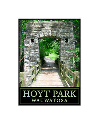 Digital Art - Hoyt Park Bridge Sunny by Geoff Strehlow