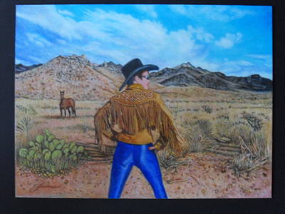Beautiful Western Cowgirl Painting - Wild Girls Of The West by James Welch