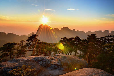 Anhui Photograph - Huangshan Mountain Range by Andy Brandl