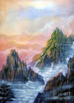 Painting - Huangshan Sunrise by Ronald Tseng