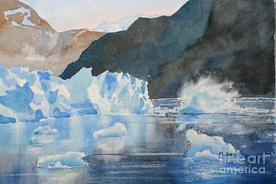 Glacier Alaska Painting - Hubbard Glacier by Mohamed Hirji