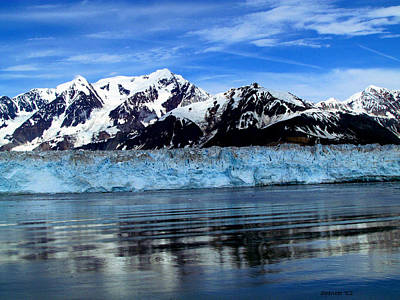 Photograph - Hubbard Glacier by T Guy Spencer