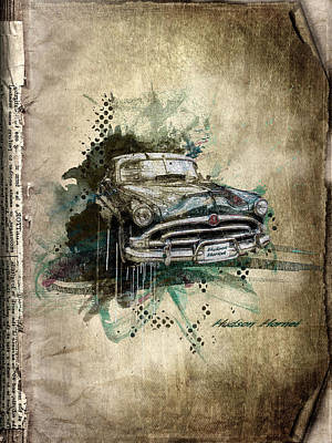 Collectables Mixed Media - Hudson Hornet by Svetlana Sewell