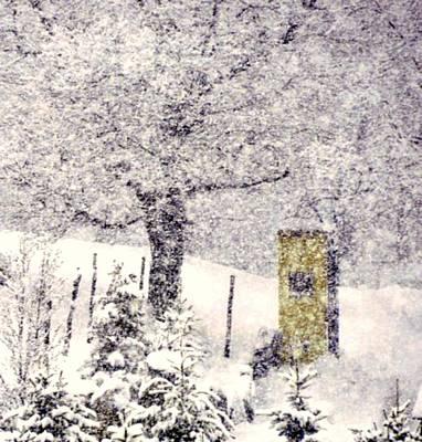Snowscape Digital Art - Hudson Valley by Sue Rosen