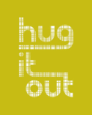 Retro Digital Art - Hug It Out by Megan Romo