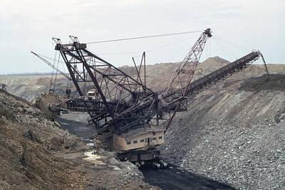 Huge Strip Mining Machinery Consuming Art Print by Everett