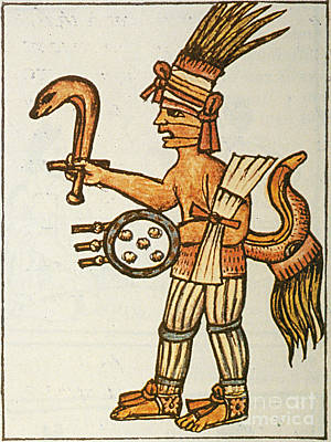 Huitzilopochtli, Aztec God Of War, 16th Print by Photo Researchers