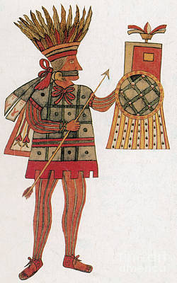 Huitzilopochtli, Aztec God Of War Print by Photo Researchers