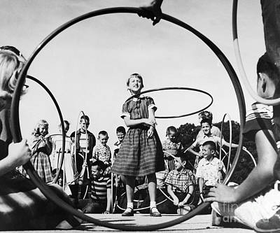 Photograph - Hula Hoop, C1950s by Granger