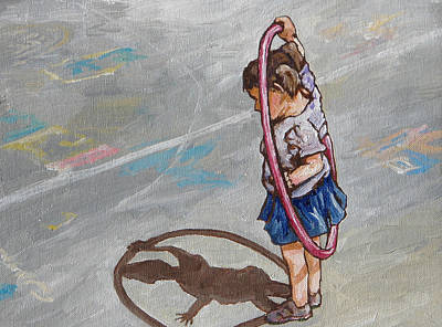 Painting - Hula Hoop by Sandy Tracey